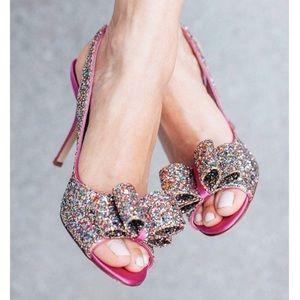 🆕 KATE SPADE New York charm glitter pink heels